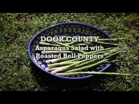 Savor Door County - Asparagus Salad with Roasted Bell Peppers
