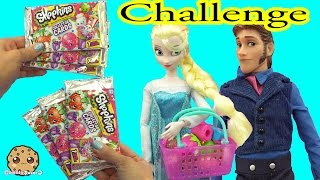 Video Disney Frozen Queen Elsa VS Prince Hans Unboxing 6 Shopkins Collector Card Blind Bags while Shopping MP3, 3GP, MP4, WEBM, AVI, FLV Mei 2019