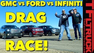 Download Lagu Not Even Close! 2018 Ford Expedition vs GMC Yukon vs Infiniti QX80 Drag Race Mp3