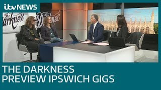 The Darkness on supporting Ed Sheeran and their new album  | ITV News