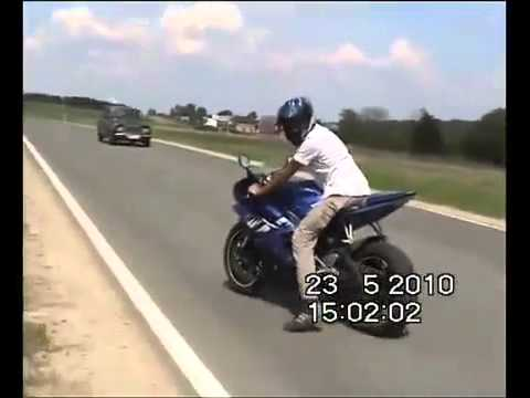 Brand new Yamaha R6 crash