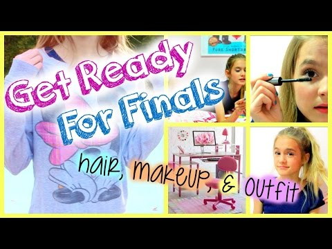 SURVIVE FINALS! Study Tips + Hair, Makeup & Outfit