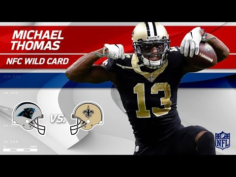 Video: Michael Thomas' 8 Grabs for 131 Yards vs. Carolina! | Panthers vs. Saints | Wild Card Player HLs