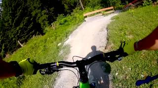 Flims Switzerland  City new picture : Mountain Biking at Flims, Switzerland - Runca Trail