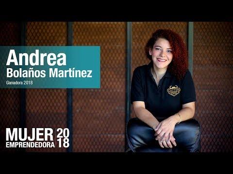 Andrea Bolaños ganadora del concurso Mujer Emprendedora 2018