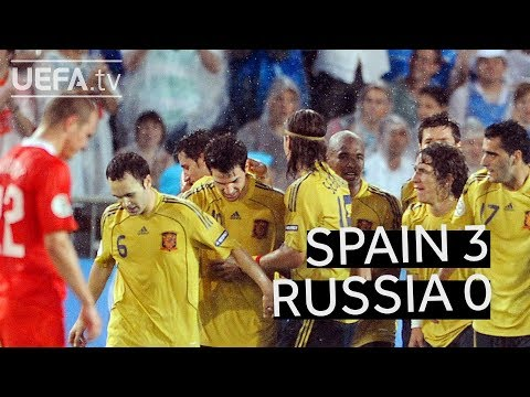 SPAIN beats RUSSIA to reach the EURO 2008 final