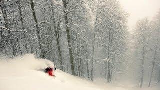 Krasnaya Polyana Russia  city images : Freeride Skiing Russia - Deep Snow in Krasnaya Polyana