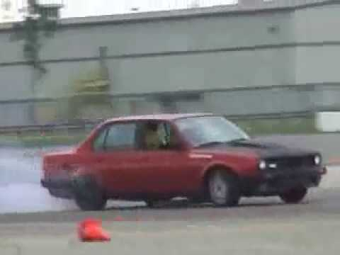 BMW E30 Turbo Drifting It's My Second Bmw E30 Turbo 2.5 And Drifting At South Florida Fairgrounds
