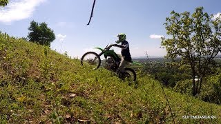 10. KLX140G test and training 62 mm perfectly.