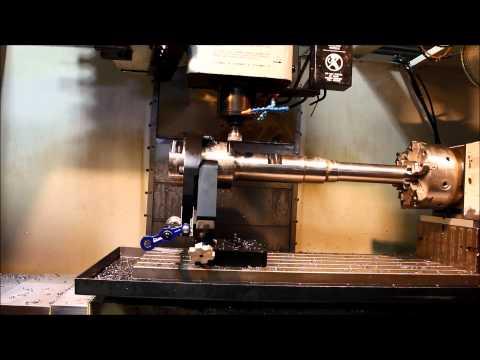NC Tech Mill Thru Steady Rest Video