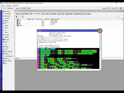 How to Backup Users and Profiles In Mikrotik hotspot