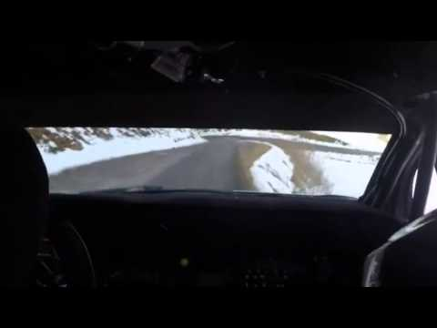 Sebastien Loeb onboard test for Monte Carlo 2015 Citroën DS3 WRC on the limit!