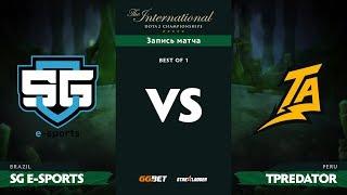 SG e-sports vs Thunder Predator, TI8 Региональная SA Квалификация