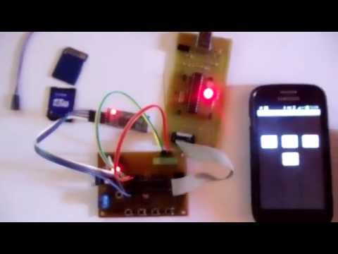 Atmega8 Android BlueTooth HC-06 LED TEST Sch+HEX+C