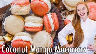 Coconut Mango Macarons by Tatyana's Everyday Food