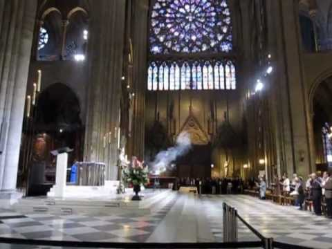 Notre Dame Cathedral Mass in Paris, France 2012