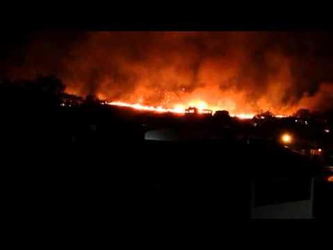 Fogo em Siderópolis