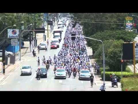 Passeio ciclístico reúne mais de mil pessoas
