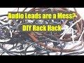 Audio Leads Rack DIY Hack