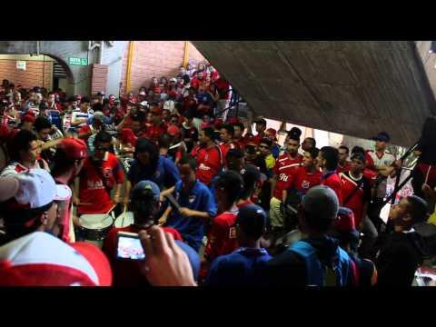DIM vs Jaguares / Batucada & rojo locura - Rexixtenxia Norte - Independiente Medellín