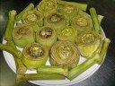 Alcachofas rellenas de carne y jamón