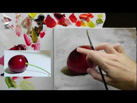 painting cherries - http://www.willkempartstudio.com How to paint an acrylic still life painting, step-by-step online video course with professional artist Will Kemp. To follow ...