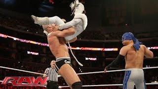 Los Matadores & Torito vs. Kidd, Cesaro & Natalya – Interspecies Match: Raw, March 23, 2015