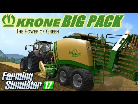 Class 3200 and Krone Ultima Balers with front Nadal v1.0