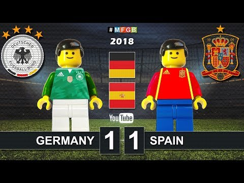 Germany vs Spain 1-1 • Friendly match 2018 (23/03) Alemania España Goals Highlights Lego Football