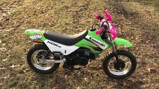 10. Kawasaki kdx 50 with FMF exhaust and walk around