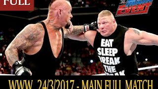 Nonton WWE Main Event 24 March 2017 Full Show The Undertaker Roman Reigns WWE Main Event 3/24/17 Full Show Film Subtitle Indonesia Streaming Movie Download