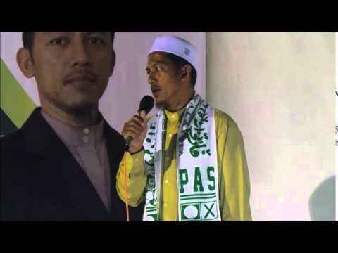 PRK Rompin ; Calon PAS Ustaz Ahmad Nazri Ceramah DiBandar Baru Rompin