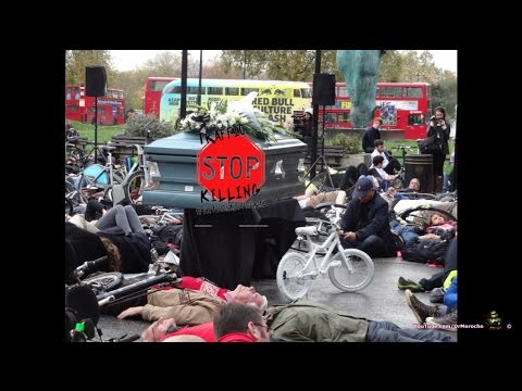 Thousands of protestors join London 'die-in' (video)