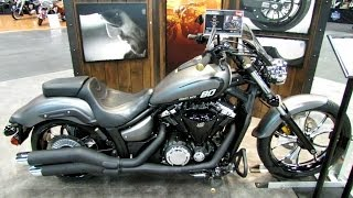 9. 2014 Yamaha Stryker - Matte Grey with Star Custom Accesoires - Walkaround  2013 NY Motorcycle Show