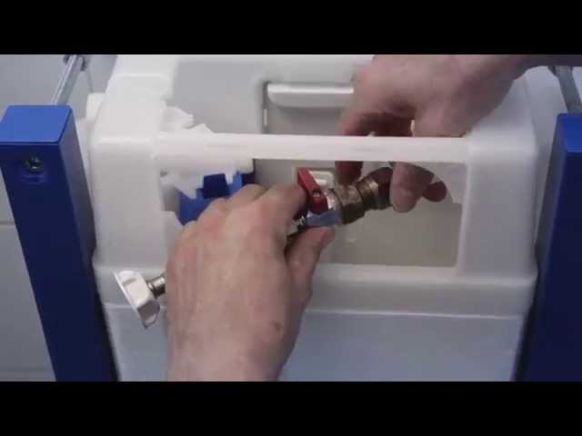Assembly video of mounting a Triomont XT low model and wall-hung toilet