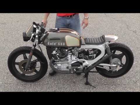 Low And Mean Cafe Racer 500 From 78 Honda CX500 Walk Around Build