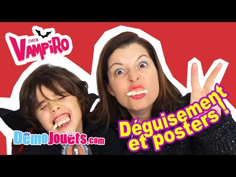 Chica Vampiro Déguisement et Poster Book Stickers - Démo Jouets