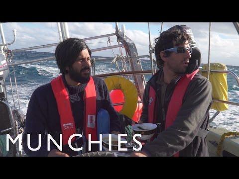 Haastavaa kokkailua purjeveneessä myrskyisällä Drakensalmella
