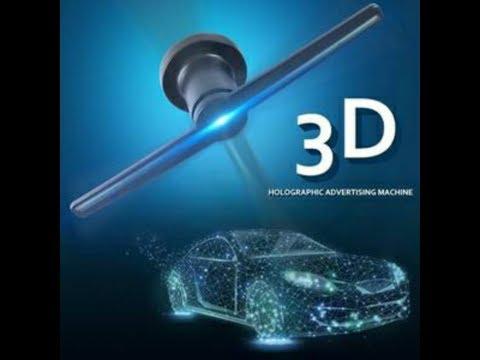Hologram video 2018 3d 4k amazing colors-Hologramme || Holographic LED Fan Display
