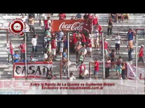 Entra la Banda - Huracan vs Guillermo Brown - www.laquemaweb.com.ar - La Banda de la Quema - Huracán