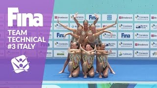 Watch the full performance of team Italy at the FINA Synchronised Swimming Olympic Games Qualification Tournament in Rio de...