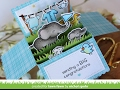 Lawn Fawn  Scalloped Box Card Pop Up  Elphie Selphie