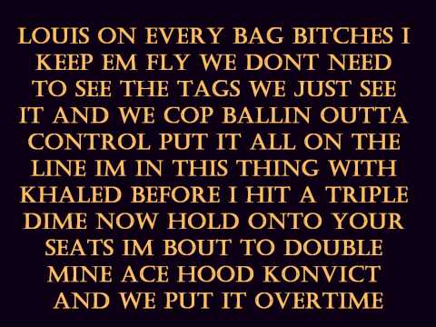 Overtime - Ace Hood, Akon &  T-Pain With Lyrics HQ