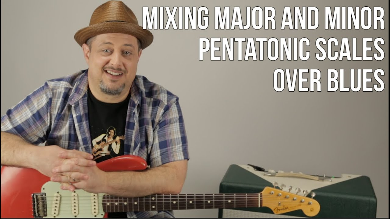 Guitar Lesson – Lead Guitar Solos – Mixing Major and Minor Pentatonic Scales for Blues