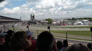 Start of 100th INDY 500 - 2016 Turn 1 - First 2 Laps