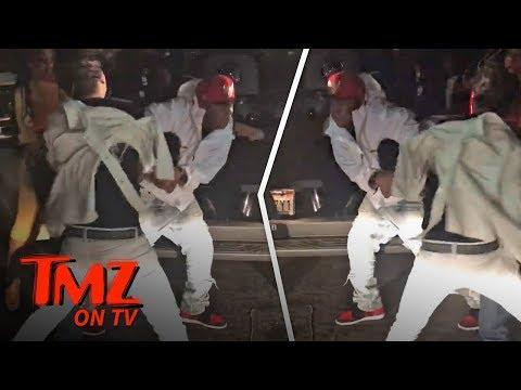 Rapper Vs. Drunk Guy Fight At NBA All-Star Game! | TMZ TV (видео)