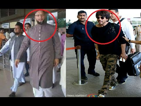 Video On Cam Asaduddin Owaisi Sportted With Sharukh Khan At Mumbai Airport Must See!!! download in MP3, 3GP, MP4, WEBM, AVI, FLV January 2017