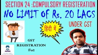 A DISCUSSION ABOUT THE PERSONS WHO ARE REQUIRED TO REGISTER UNDER GST WITHOUT ANY LIMIT OF RS. 20 LACS