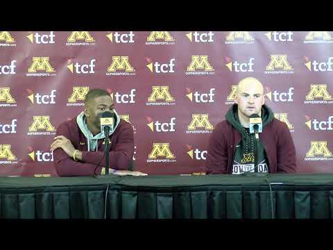 Press Conference: Tanner Morgan & Rashod Bateman on Gophers' Win vs. #4 Penn State
