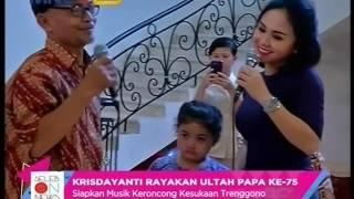 Video Krisdayanti Rayakan Ultah Papa Ke 75  - Seleb On News (5/10) MP3, 3GP, MP4, WEBM, AVI, FLV Januari 2019